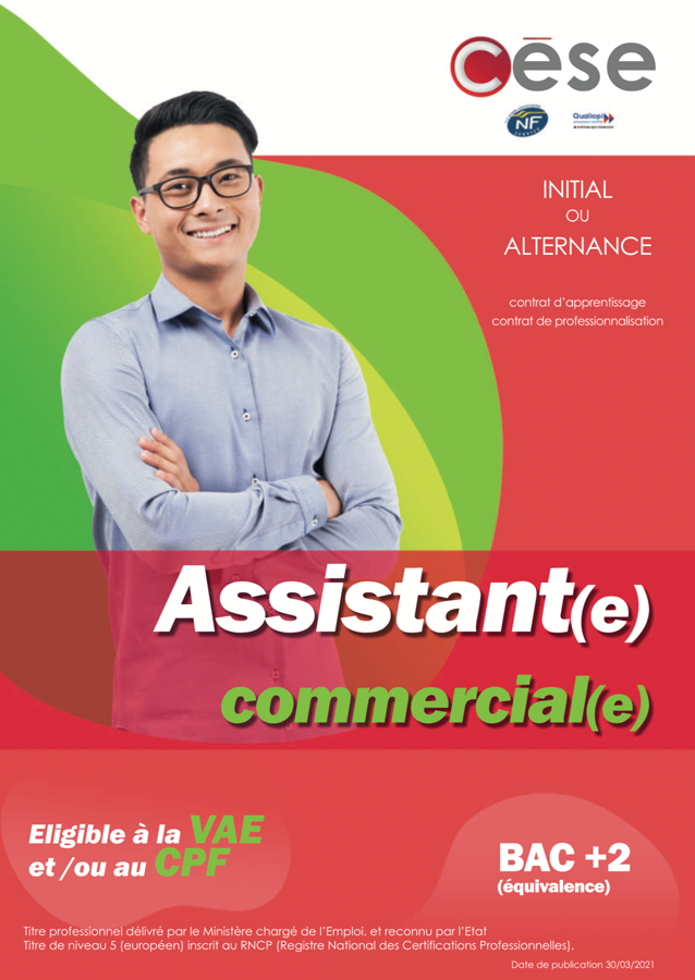 formation assistant commercial